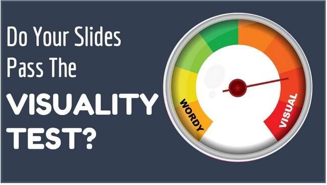 Why only Visual slides get your audience's attention