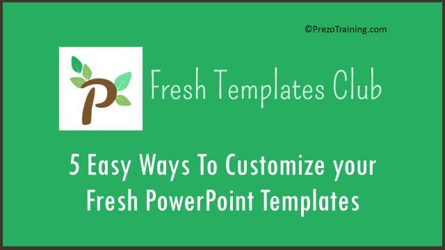 how to customize powerpoint template