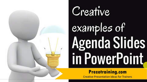 Creative examples of Agenda Slide in PowerPoint
