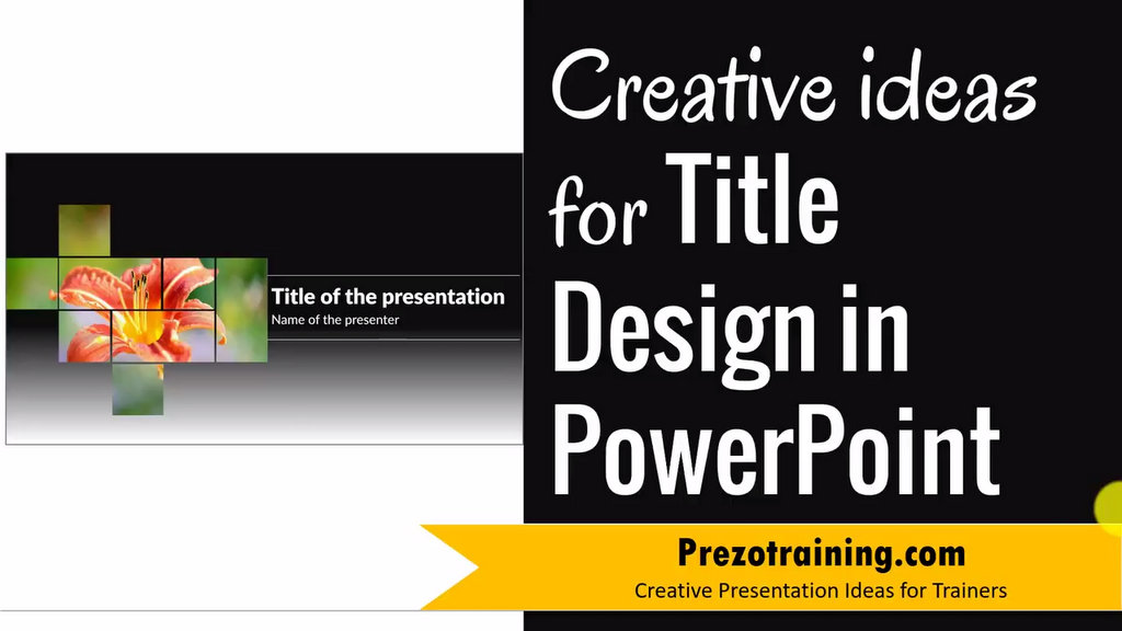 Creative Title Slide Design for PowerPoint