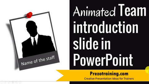 Creative Team Introduction Slide Tutorial in PowerPoint