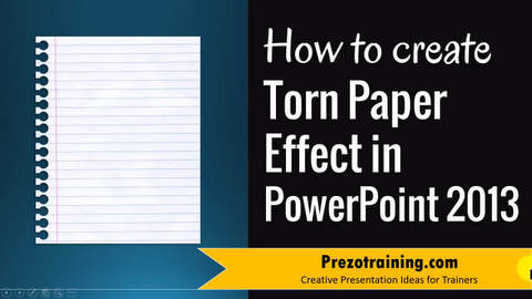 Torn Paper effect in PowerPoint 2013