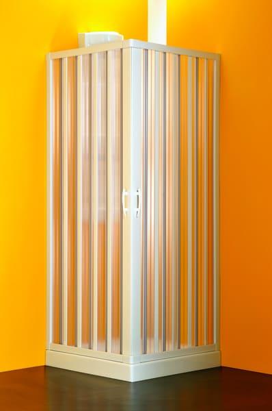 FORTE Box doccia Cabina doccia Angolare a soffietto in PVC