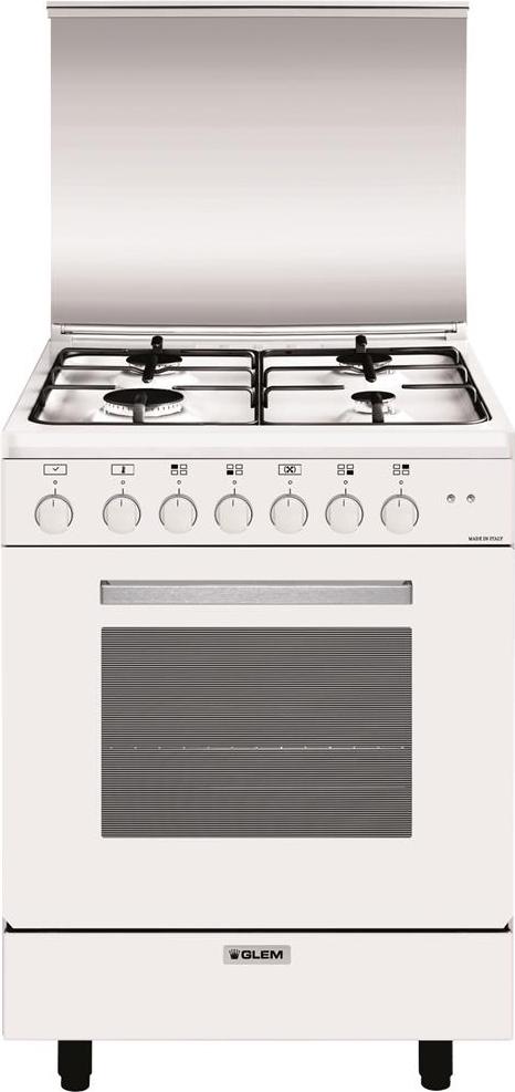Cucina A Gas Glem Gas A654Mx6 Forno Elettrico Ventilato
