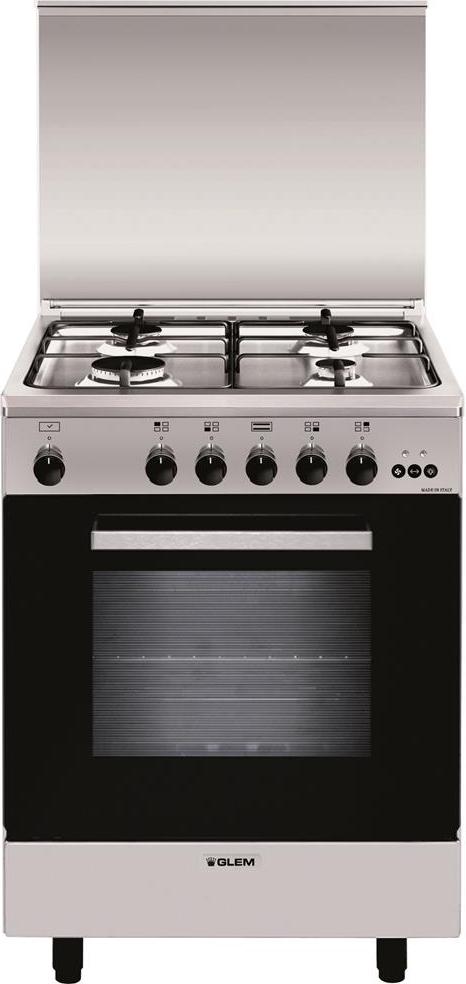 Cucina A Gas Glem Gas A654Vi Forno A Gas Ventilato 60X50
