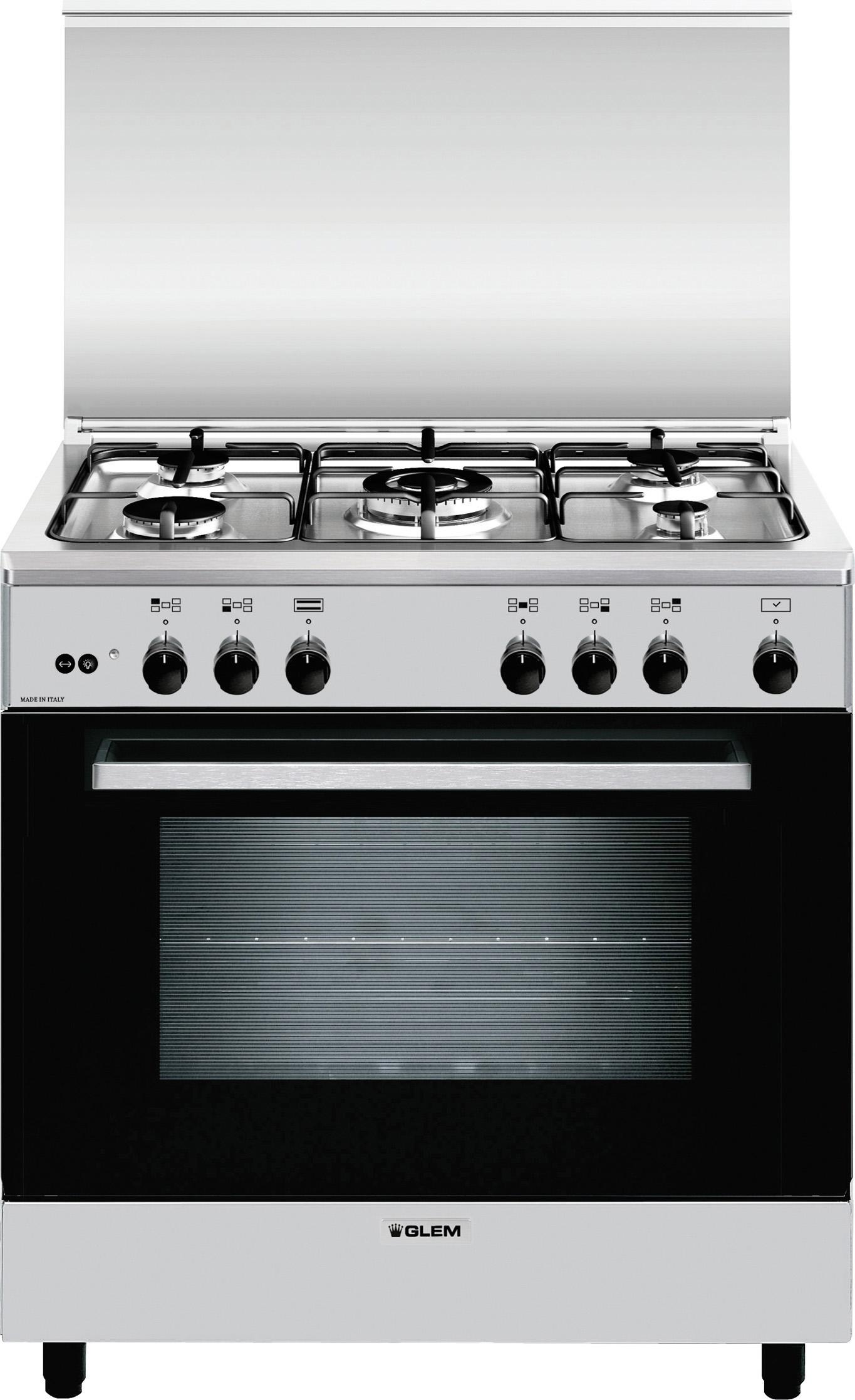 Cucina A Gas Glem Gas A855Gi Forno A Gas 80X50