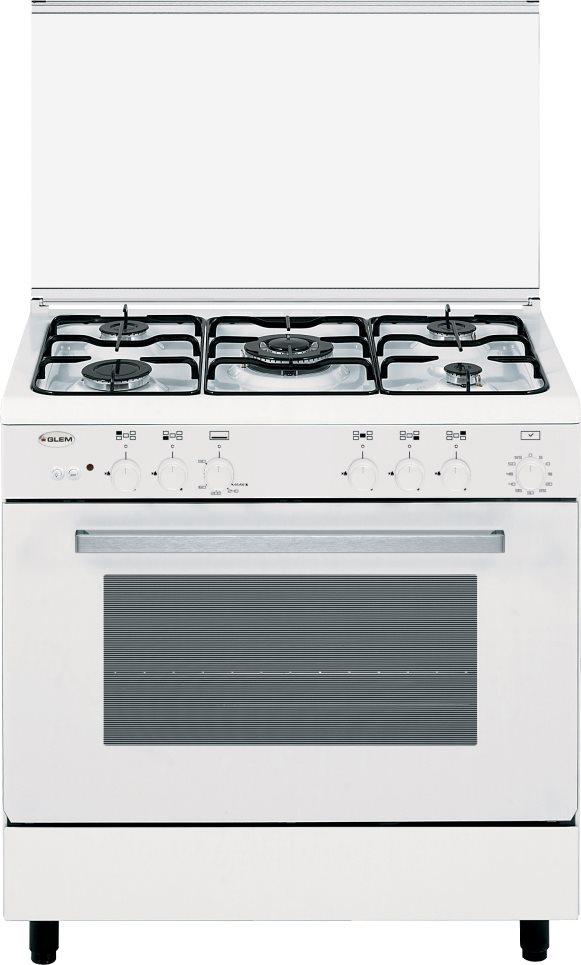 Glem Gas Cucina a Gas 5 Fuochi Forno a Gas con Grill