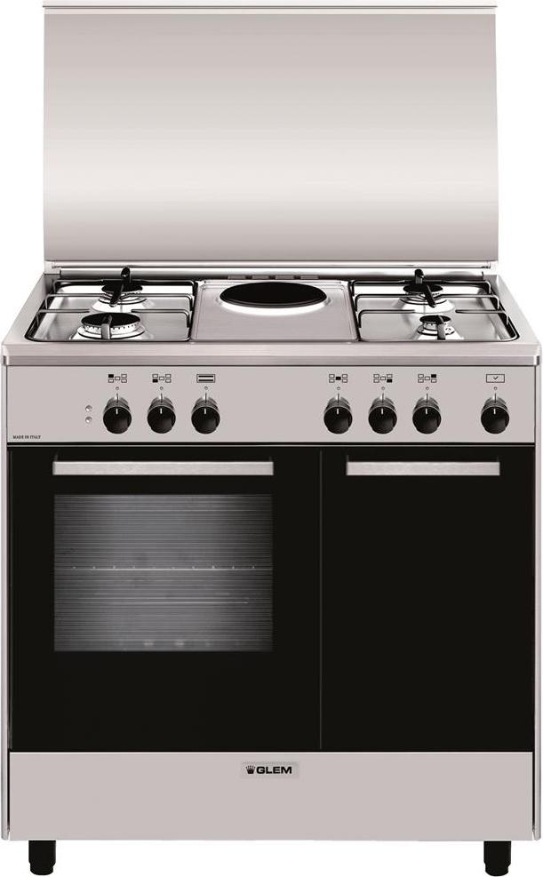 Cucina A Gas Glem Gas Ar856Ei Forno Elettrico 80X50
