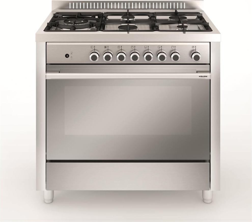 Cucina A Gas Glem Gas M96Tvi Forno A Gas Ventilato 90X60