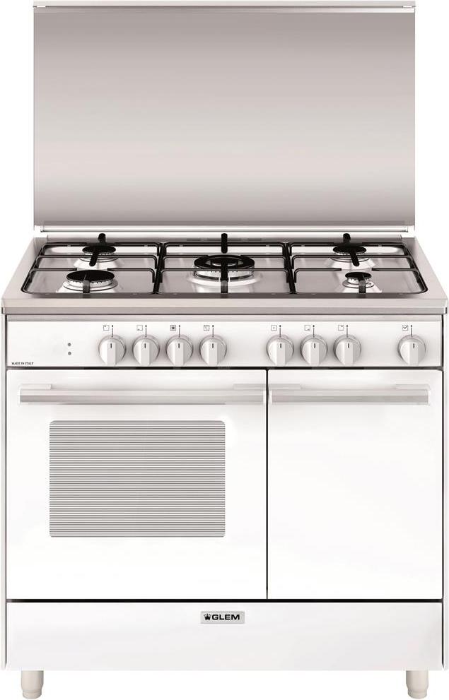 Cucina A Gas Glem Gas Ur965Mx Forno Elettrico Ventilato