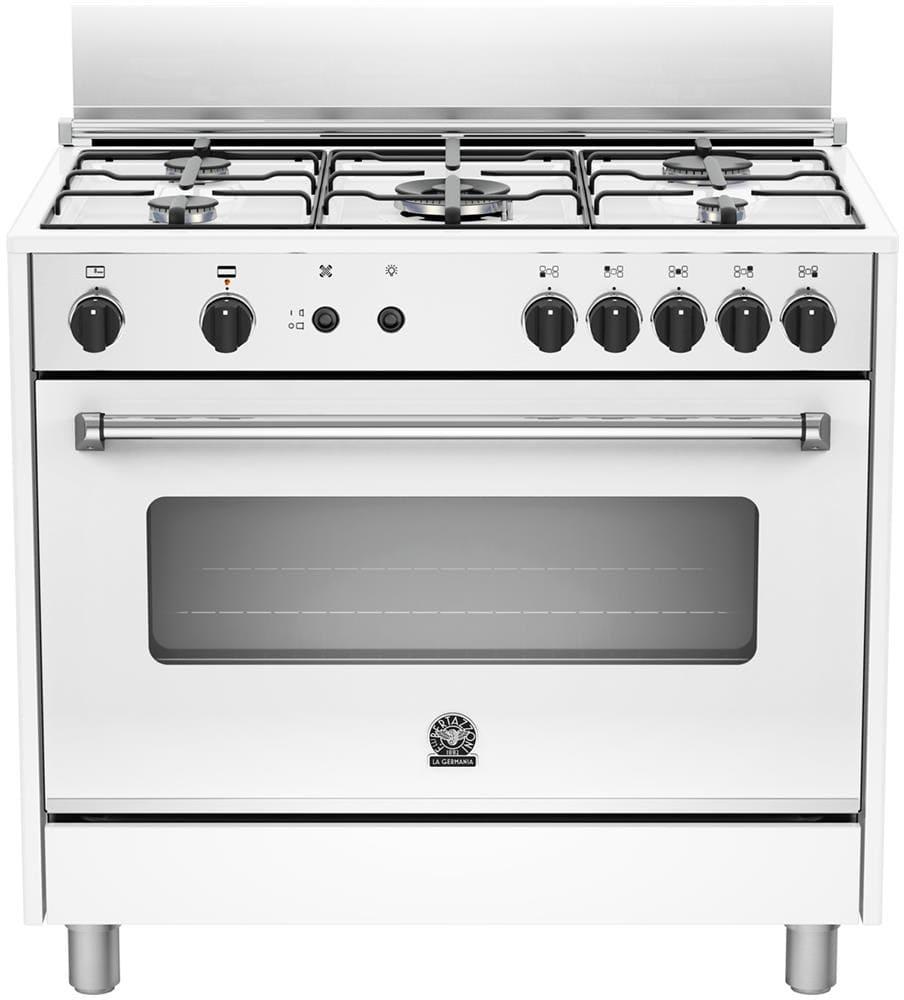 La Germania Cucina a Gas 5 Fuochi Forno a Gas Ventilato con Grill Larghezza x Profondit 90x60