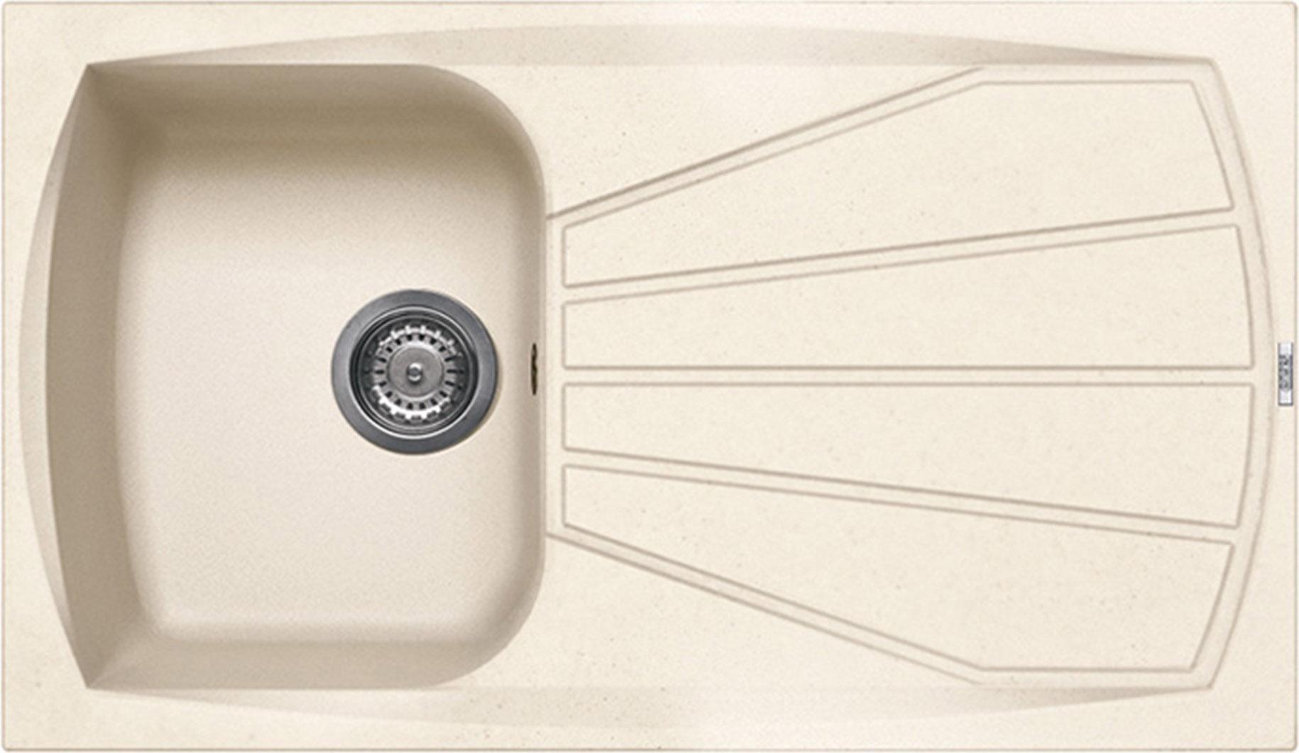 Lavello Cucina 1 Vasca Incasso eff Fragranite ELLECI 86 cm Avena LGL40051NNA  eBay