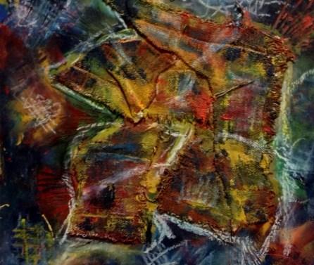 Ja/ich 20 x20 kombinovana tehnika Technik: Öl, Pastel