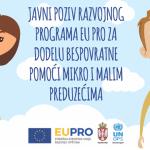 Javni poziv razvojnog programa EU PRO za dodelu bespovratne pomoći mikro i malim preduzećima