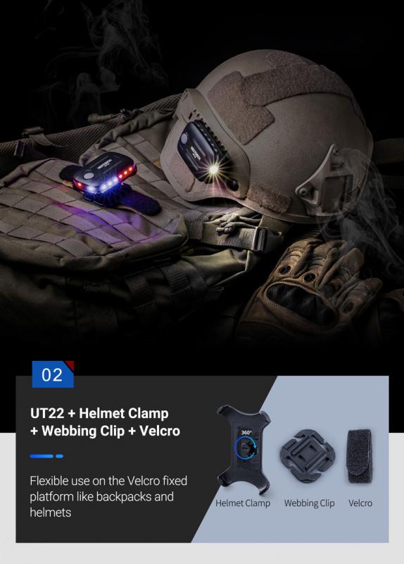 Nextorch UT22 USB-C 磁吸燈 頭盔燈 ?? 觸控開關 / 方向感應 ?? - hkequipment 電筒及戶外用品 edc 裝備店