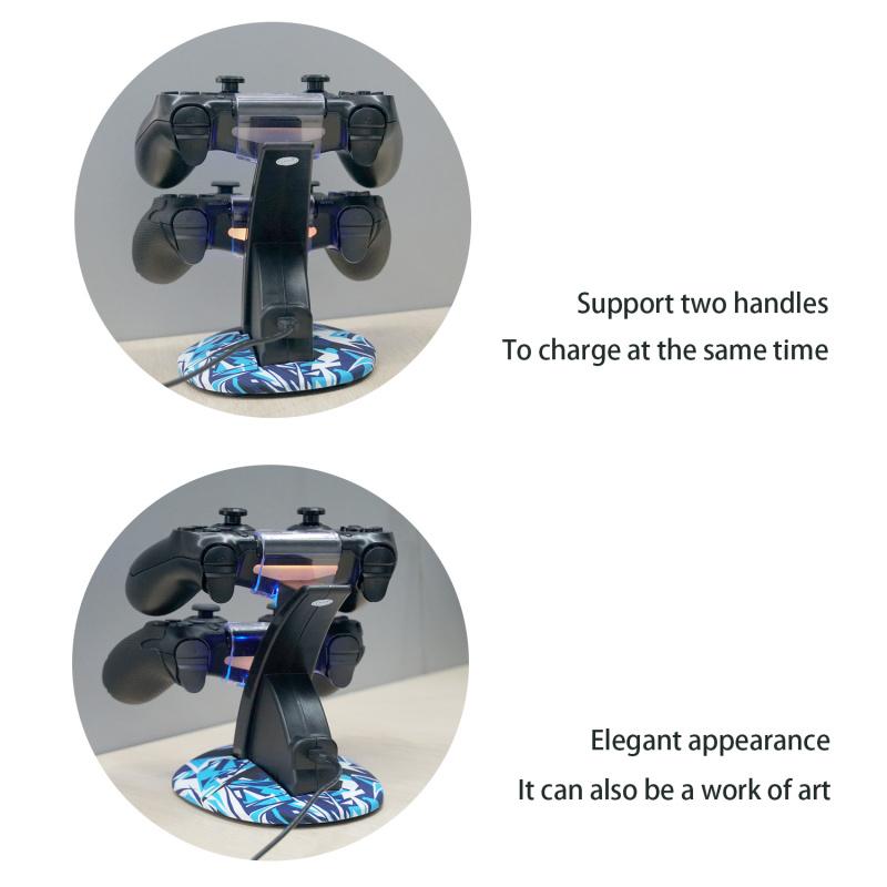 Mcbazel Controller Charging Stand for PS4/Slim/Pro Blue Black 藍黑座充 - Supreme Factory Limited