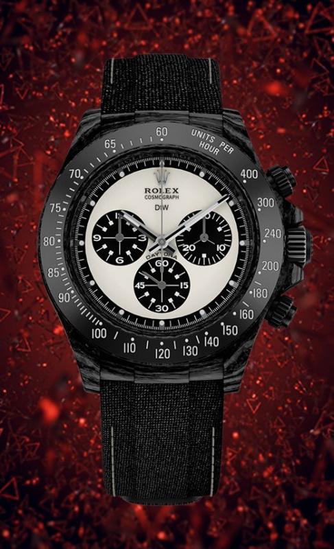 "Rolex DiW NTPT Carbon Daytona Panda ""PAUL NEWMAN BLACK"