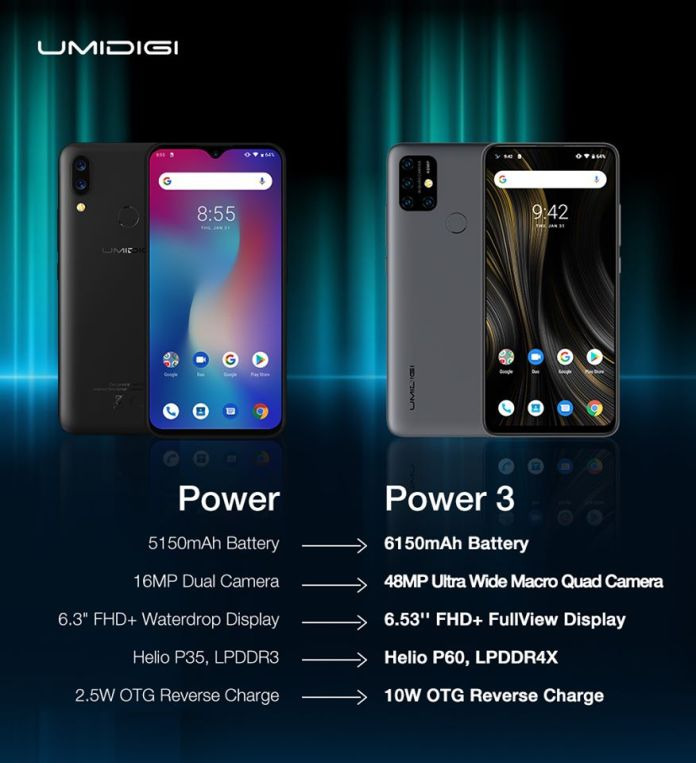 UMIDIGI Power VS UMIDIGI Power 3