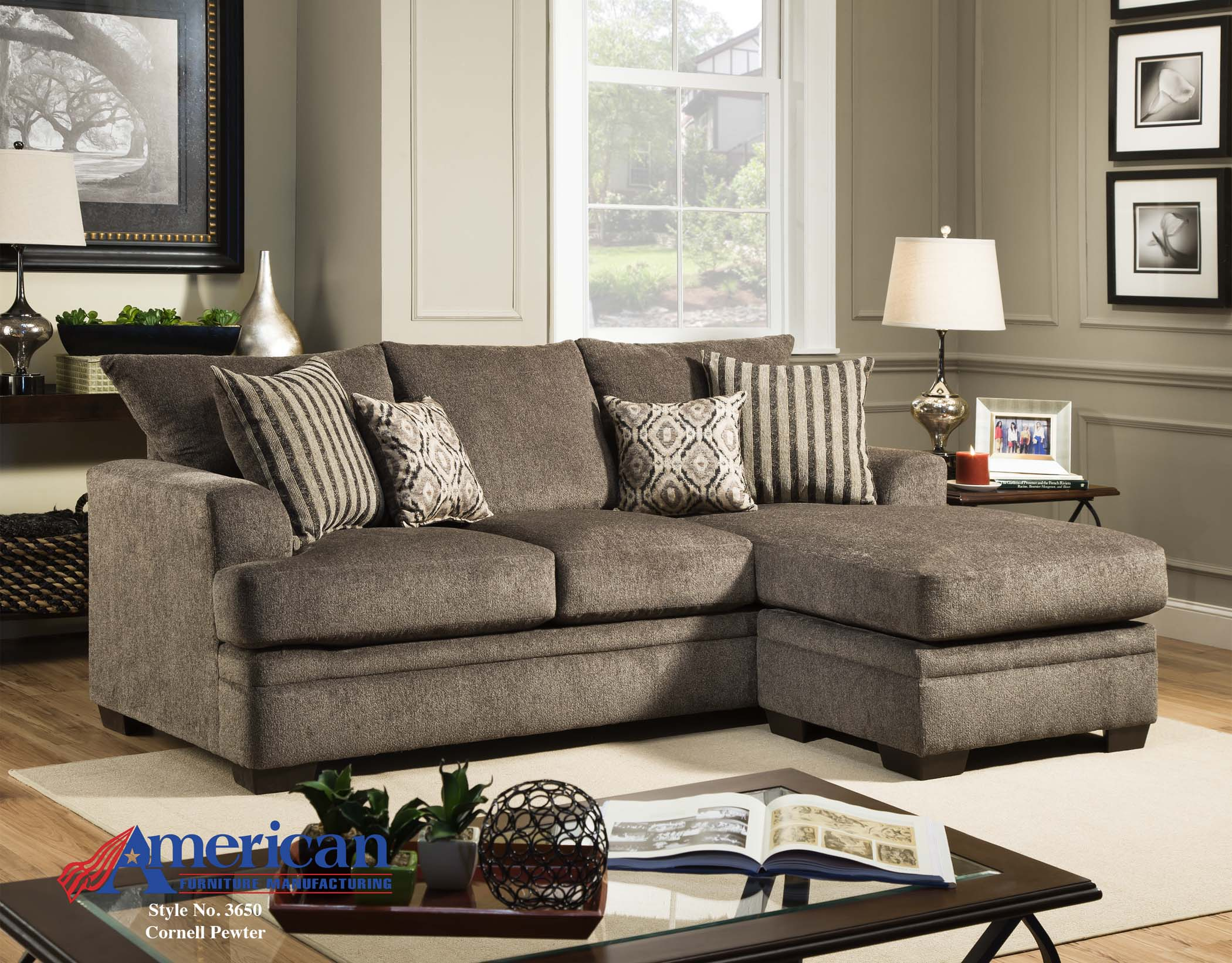 Pewter Sofa Dark Gray Chenille Couch Set Albany Pewter