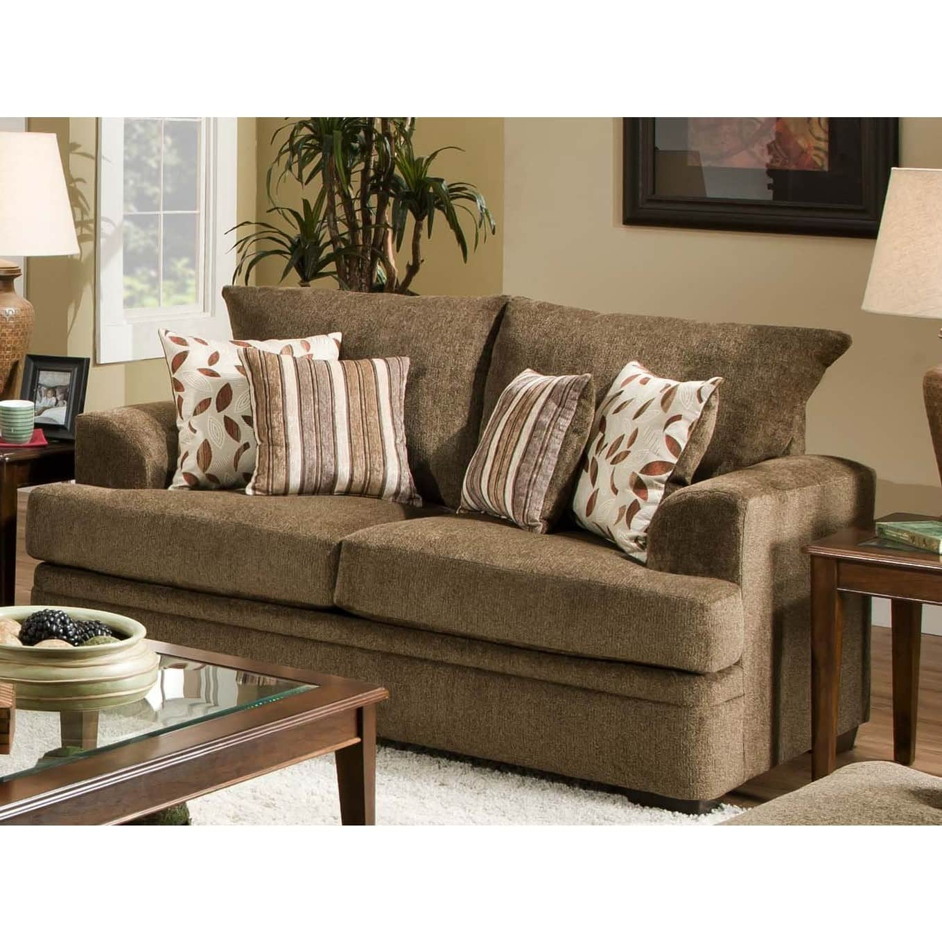 American furniture 3652 1661 cornell cocoa loveseat
