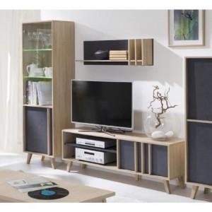ensemble design pour votre salon malmo gris bibliotheque petit modele meuble tv etagere meuble type scandinave