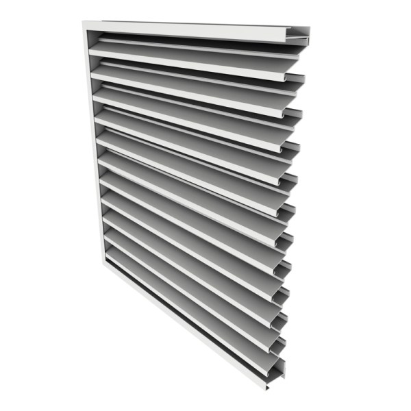 """2"""" Deep 30 Fixed Blade Extruded -drainable Louver"""