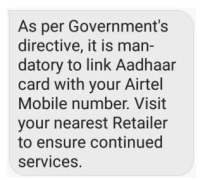link aadhaar with mobile number online