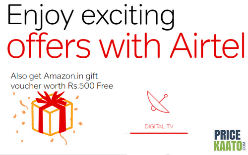 Amazon Airtel DTH Offer: Get Upto Rs 500 Amazon Gift Voucher For Free
