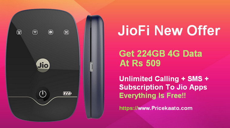 JioFi New Offer: Get 224GB 4G Data At Rs 509 Only With JioFi Device