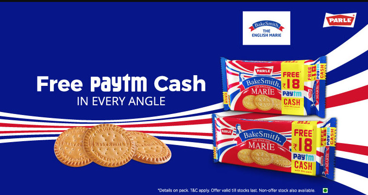 Paytm Parle Bake Smith Offer: Get Rs 18 Free Paytm Cash With Biscuit