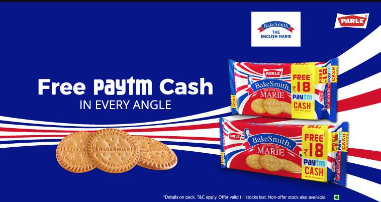 Paytm Parle Bake Smith Offer