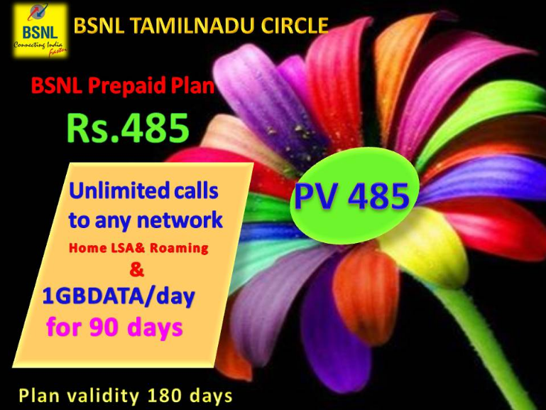 BSNL 186 485 Plan Details Recharge Activate