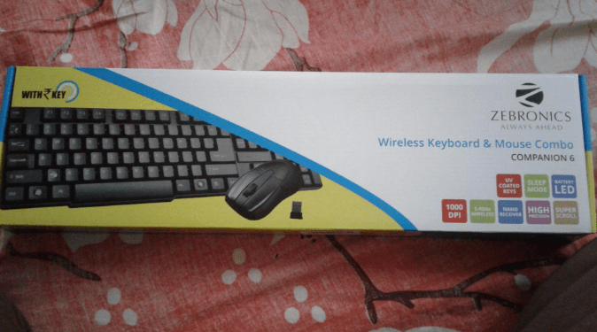 Wireless Mouse Keyboard Zebronics Amazon Deal