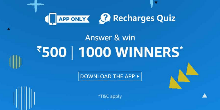 Amazon Recharges Quiz Answers