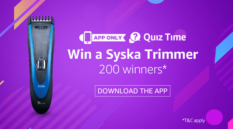 Amazon Syska Quiz Answers Today