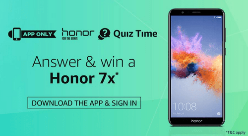 [Answers Added] Amazon Honor 7X Contest Answers Today