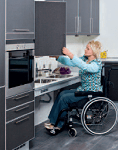 kitchen storage bins kmart appliances limited mobility, wheelchair and disabled access kitchens ...