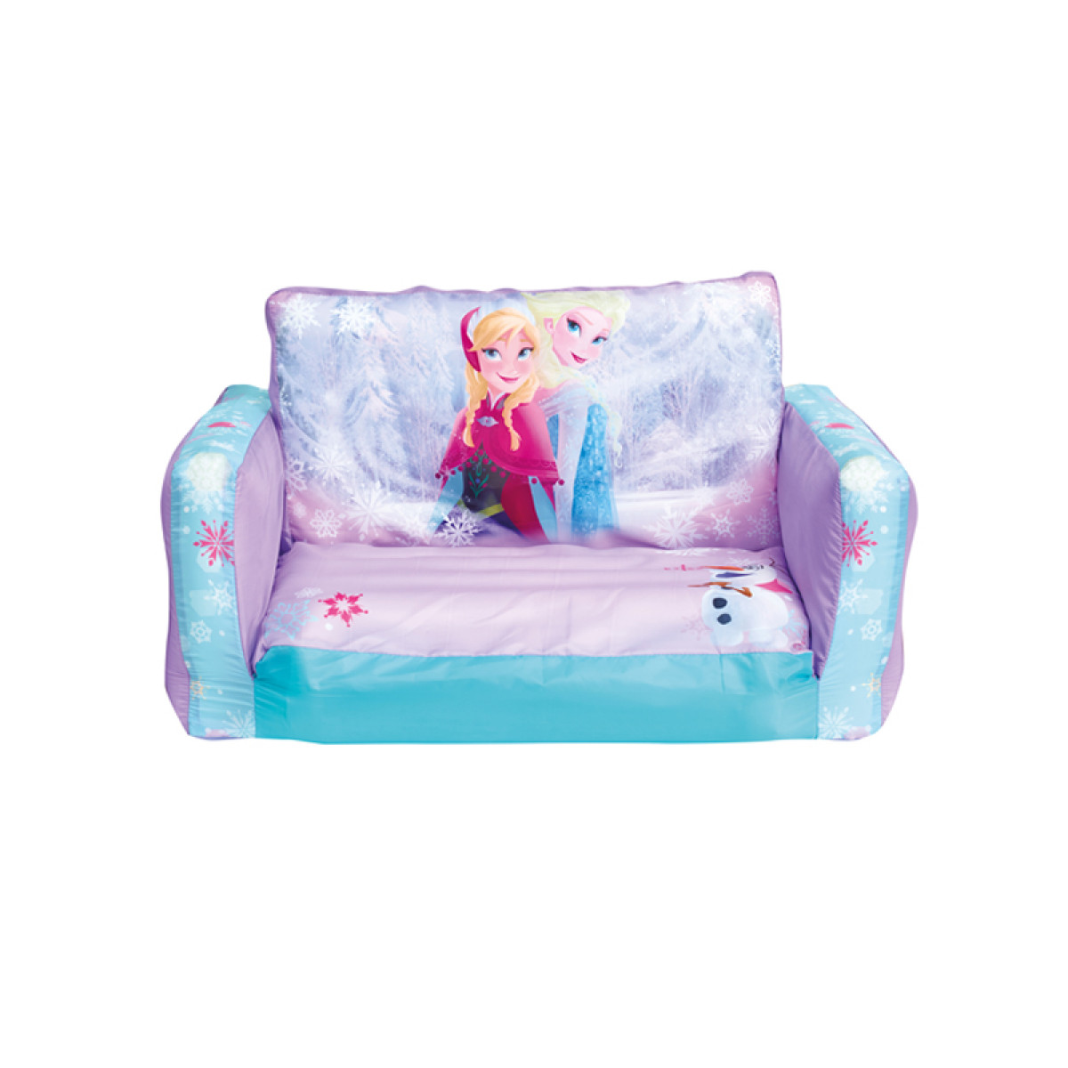 disney princess flip out sofa with slumber bag large pillows for frozen bedroom