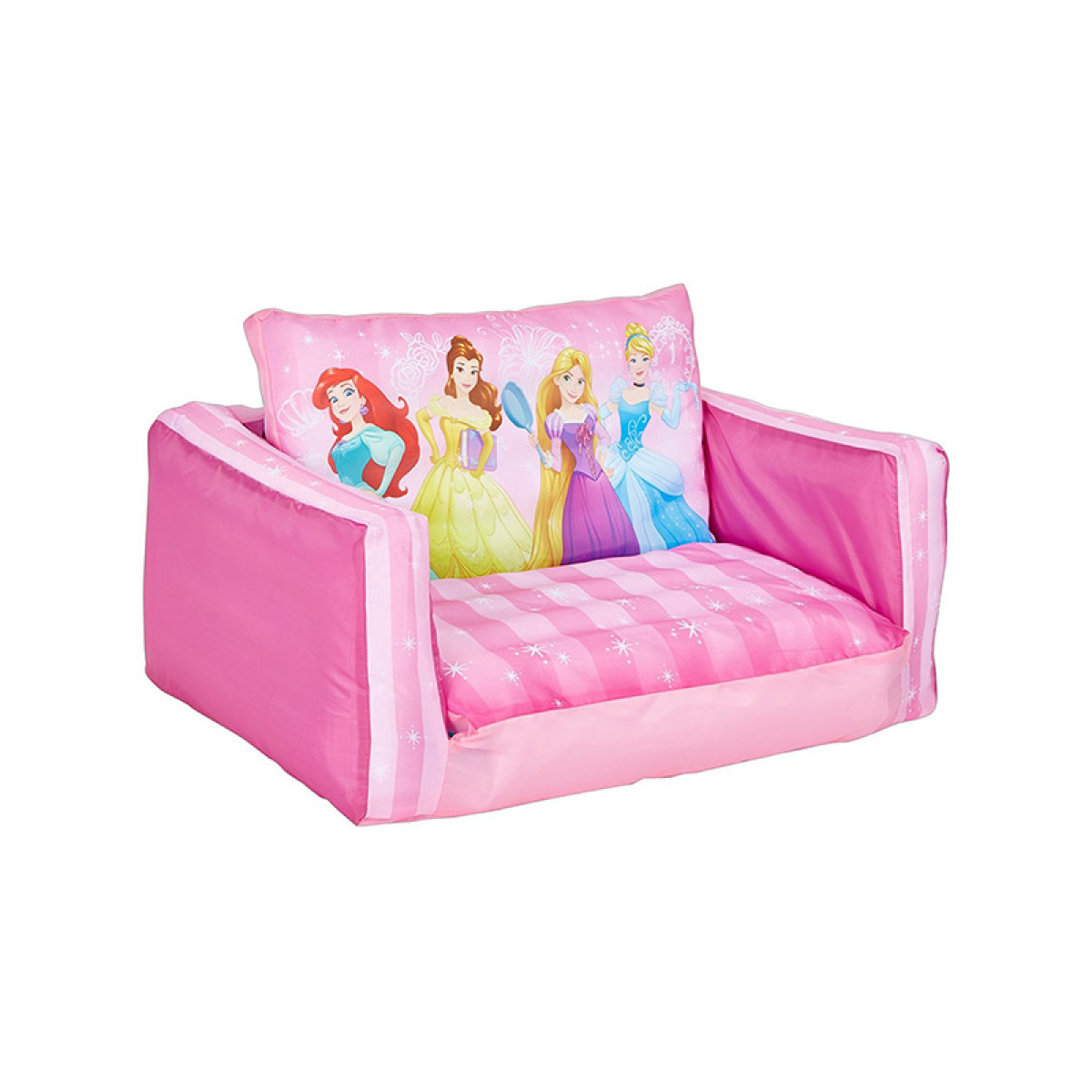 disney princess flip out sofa with slumber bag tesco teal bed