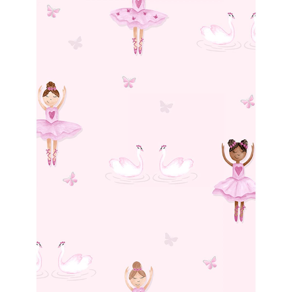 Ballerina Wallpaper Pink Holden 12460  Bedroom