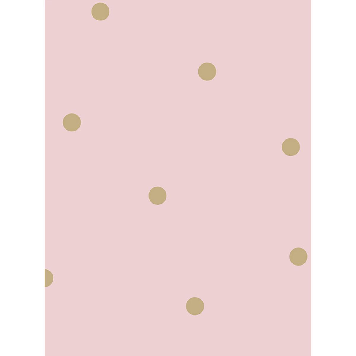 Dotty Wallpaper Pink  Gold Holden 12604