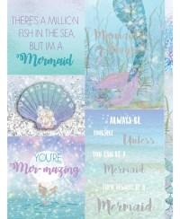 Mermazing Mermaid Glitter Wallpaper - Ice Blue- Arthouse ...