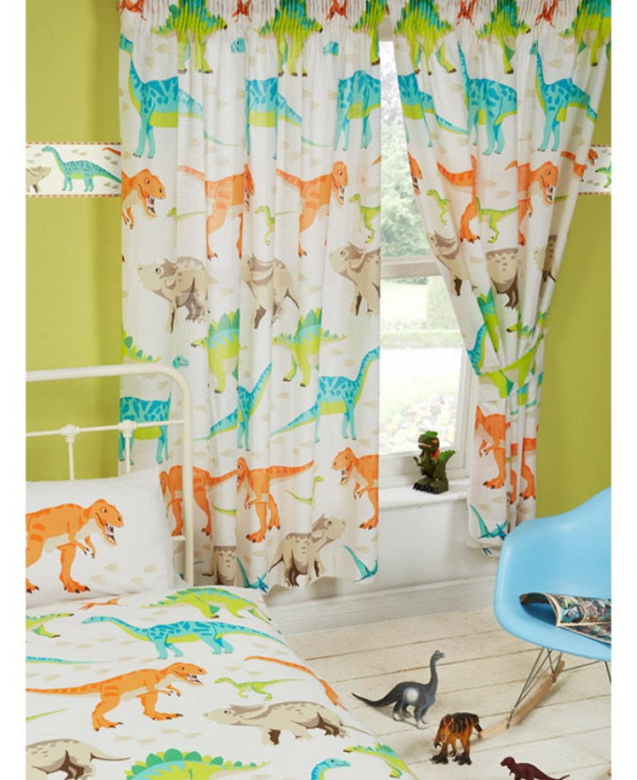 Fl Hearts Birds Childrens 66x72 Ready Made Pencil Pleat Curtains