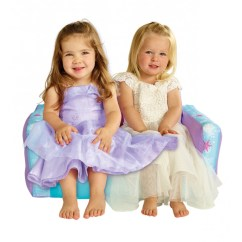 Fun Furniture Flip Open Sofa Disney Princess Pink Leather Chaise Canada Frozen Bean Bag Chair With Piping ...