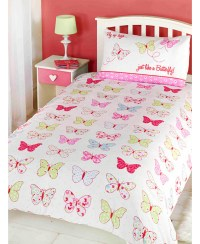 Fly Up High Butterfly Junior Duvet Cover and Pillowcase Set