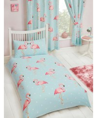 Fifi Flamingo Single Duvet Cover and Pillowcase Set ...