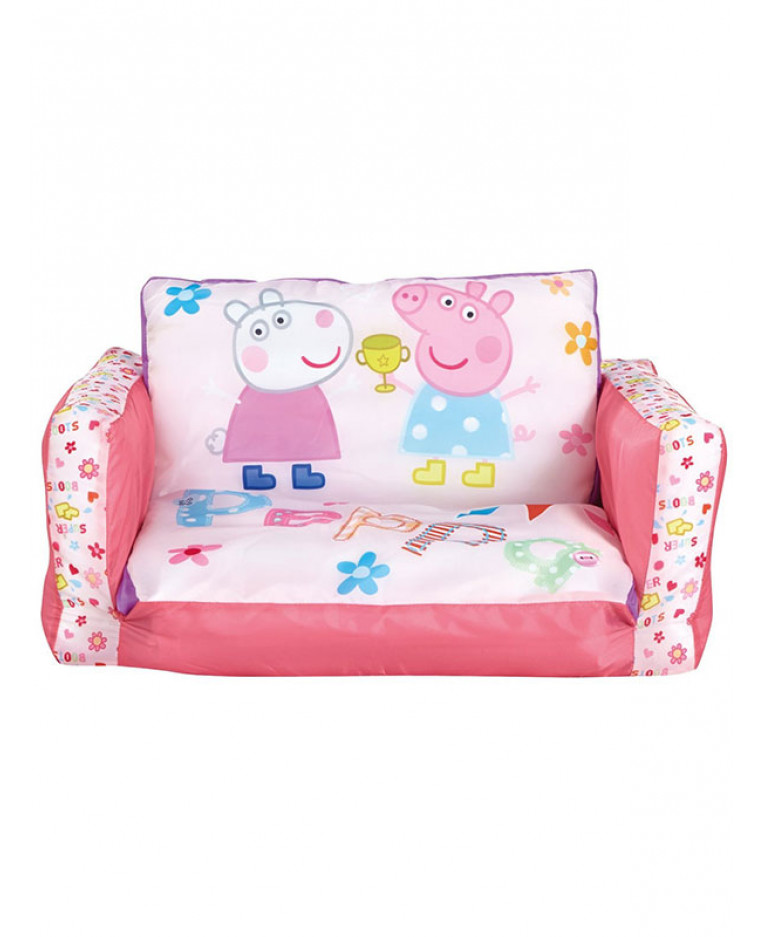 thomas the tank engine flip out sofa australia 3 seater black leather peppa pig bedroom girls lounger bed