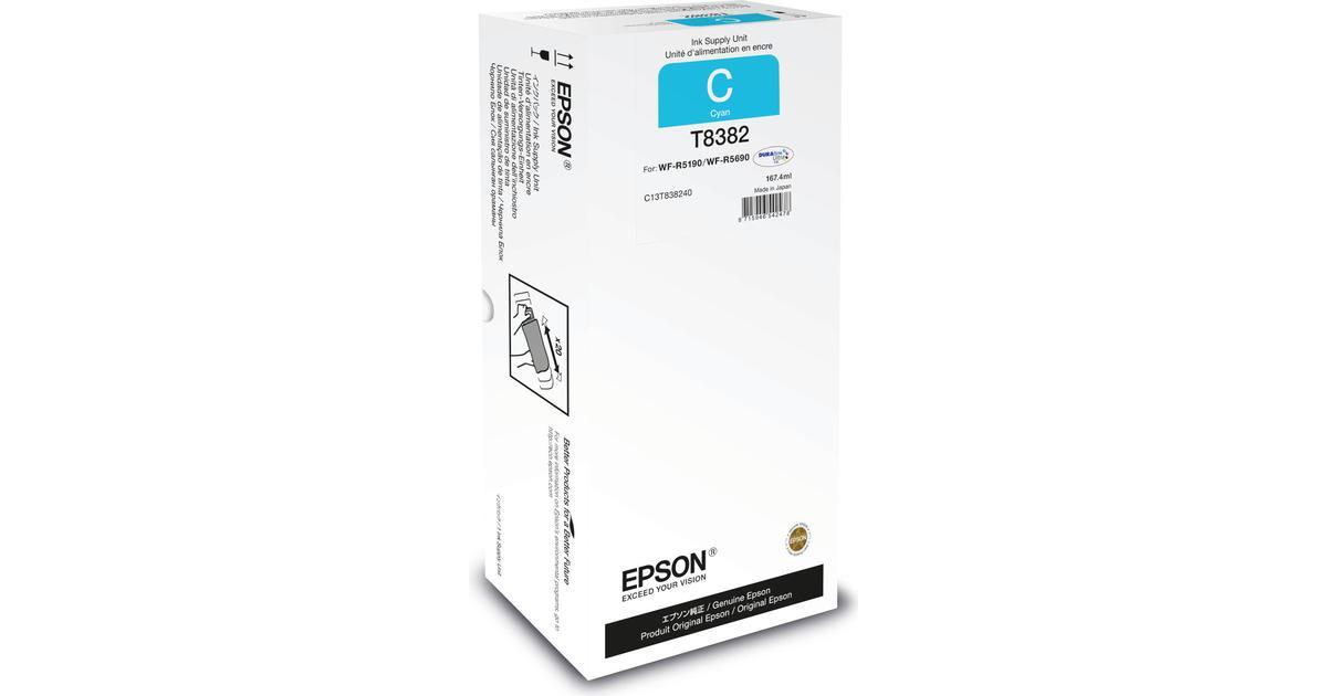 Epson C13T838240 (Cyan) • Se pris (19 butikker) hos
