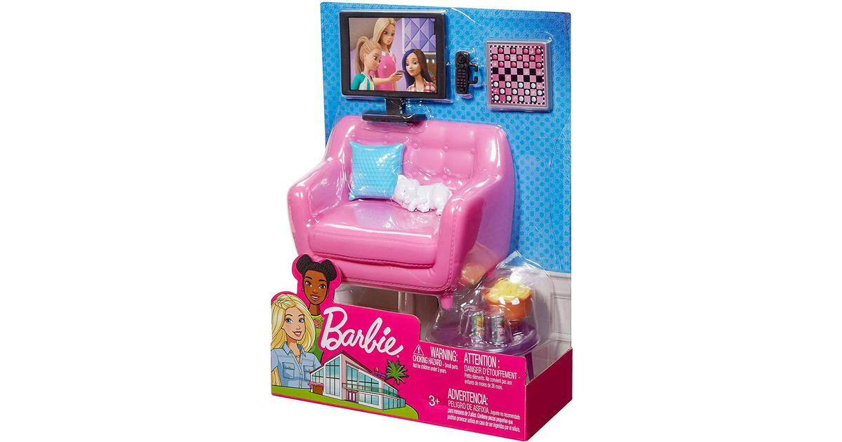 Barbie Tv Sofa Accessories Se Pris 5 Butikker Hos Pricerunner
