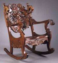 Furniture: Chair-Rocking; Victorian, Renaissance Revival ...